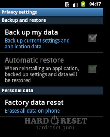 Factory data reset Sony SGPT112 Tablet S WiFi