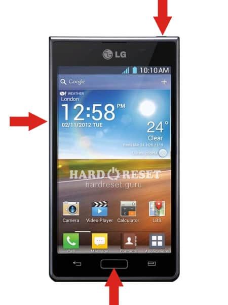 Hard Reset keys LG P713 Optimus L7 II