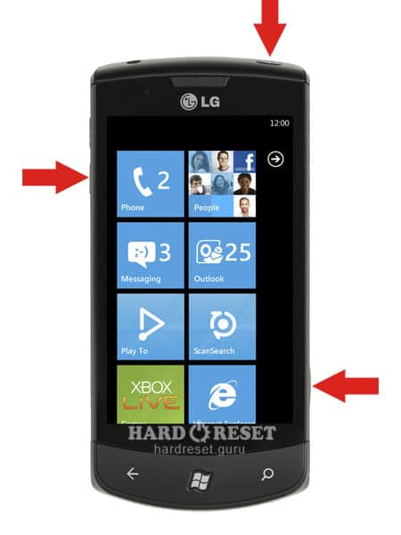 Hard Reset keys LG E900H Optimus 7