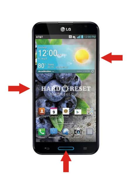 Hard Reset keys LG P690B Optimus Link