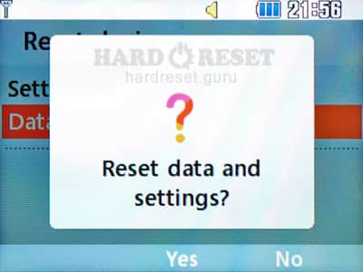 Confirm Hard Reset LG C300GO Town