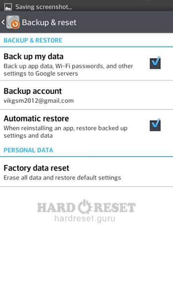 Factory data reset LG D213C L50