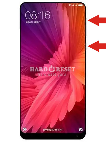 Hard Reset keys Xiaomi Mi Mix 2S and similar series