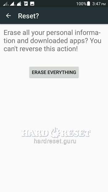 Erase everything HTC ADR6330 Rhyme