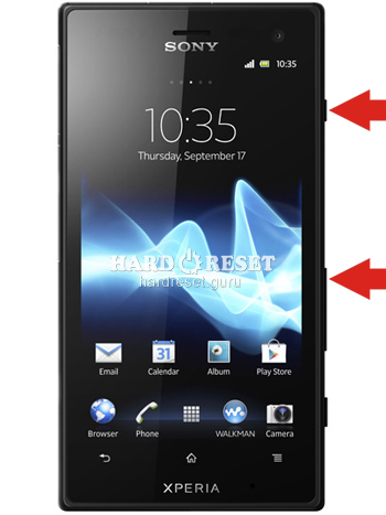 Hard Reset keys Sony LT28at Xperia Ion