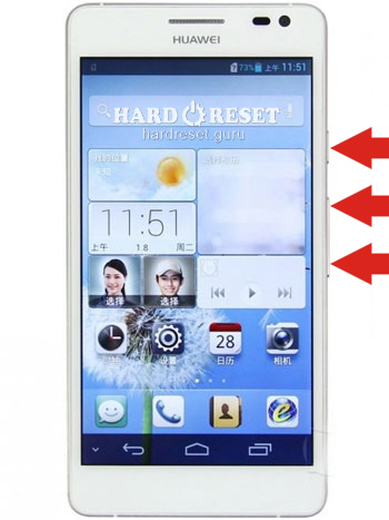 Hard Reset keys Huawei HSPA MT7-UL00 Ascend Mate 7