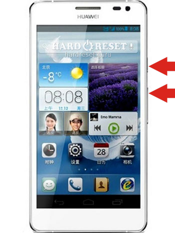 Hard Reset keys Huawei GL11S Ascend P6 S LTE-A