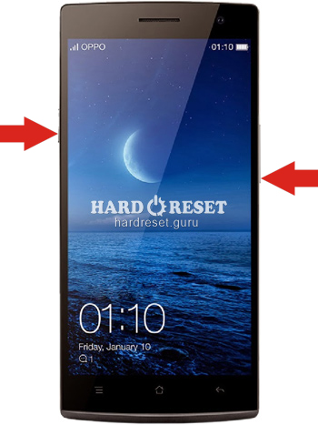 Hard Reset keys Oppo Find 7 and similar series