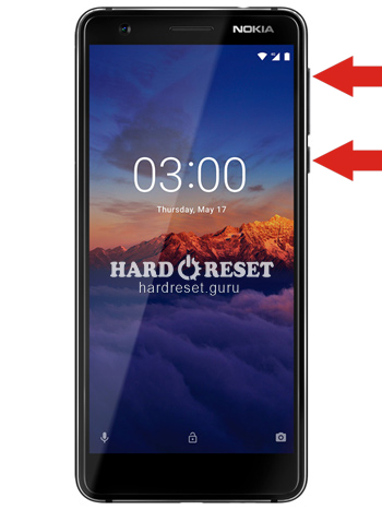 Hard Reset keys Nokia 3.1 and similar series%