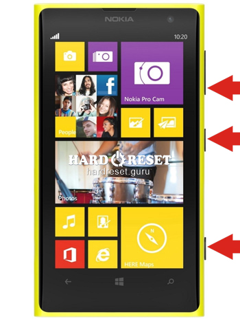 Hard Reset keys Nokia 505 Lumia and similar series