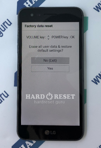 Factory data reset Rebel 3