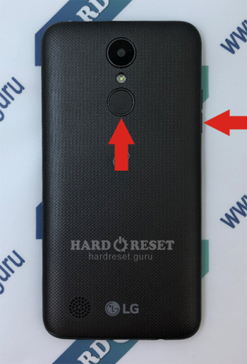 Hard Reset keys LG Rebel 3