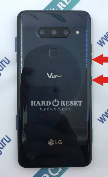 Hard Reset keys LG V40 ThinQ