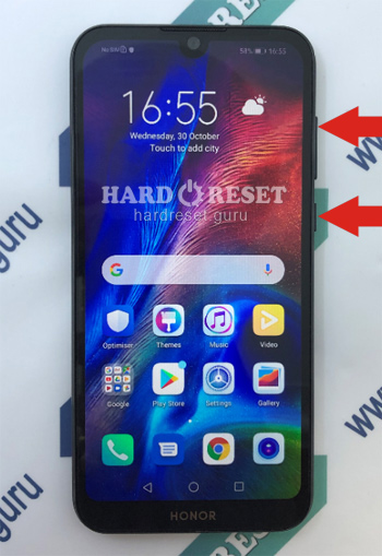 Hard Reset keys Honor 8