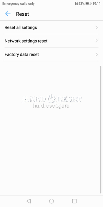 Factory data reset Y6 Prime 2018