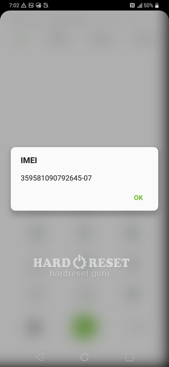 check your Imei LG V40