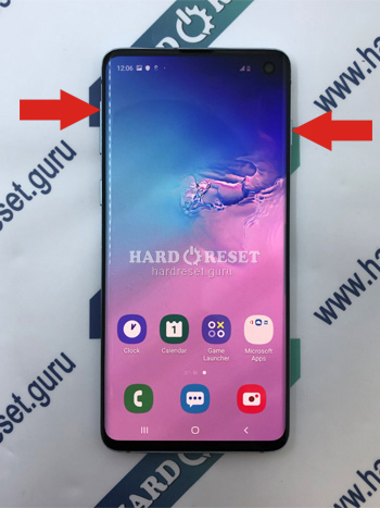 Power and Volume key Samsung Galaxy S10