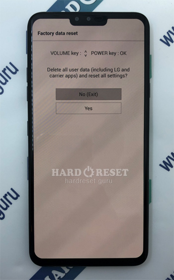 Factory data reset V40 ThinQ
