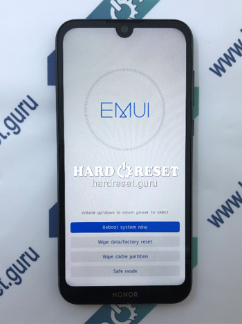 Factory data reset Honor 8