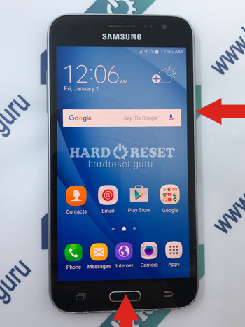 Power and Volume key Samsung Galaxy J3