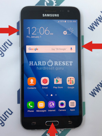 Hard Reset keys Samsung Galaxy J3
