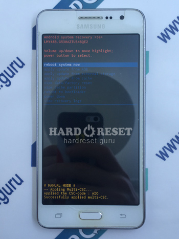 Factory data reset Samsung Galaxy Grand Prime